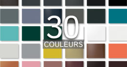 30 couleurs disponibles en standard